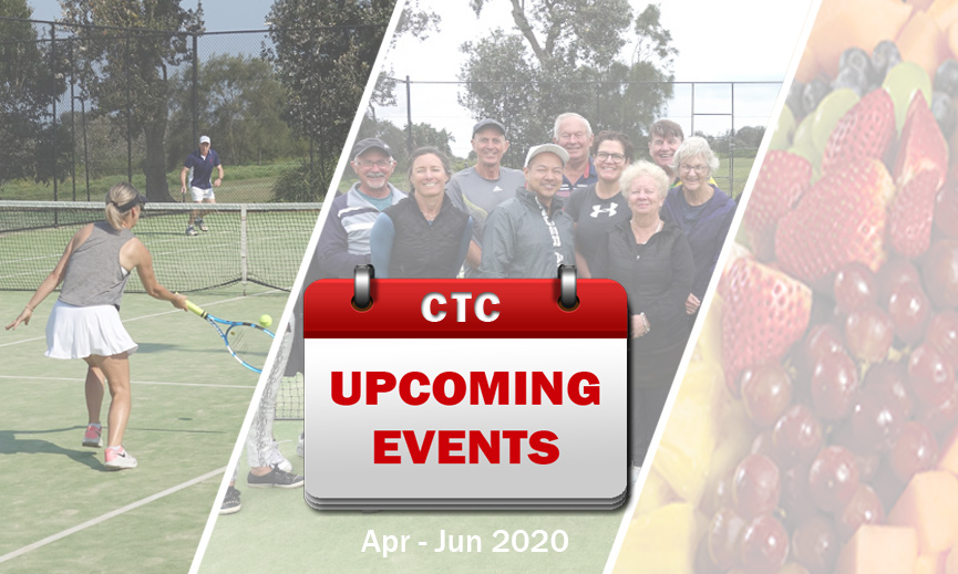 Upcoming Events for Apr - Jun 2020