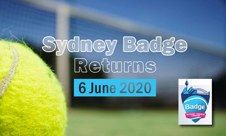Sydney Badge Returns - 6 June 2020