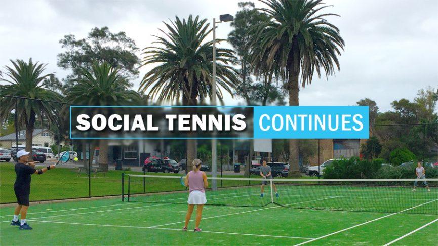 Social Tennis Continues