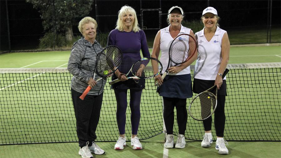 TNB Ladies Doubles finalists