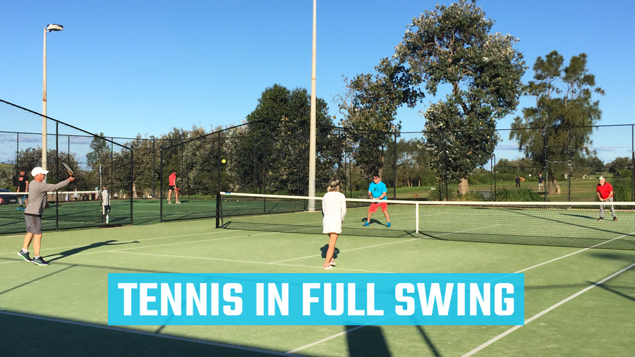 Tennis in Full Swing