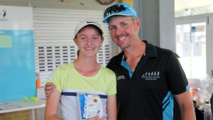Most wins - Elise with Scott (uncle and coach)