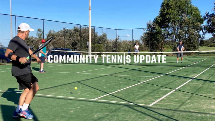 Community Tennis Update